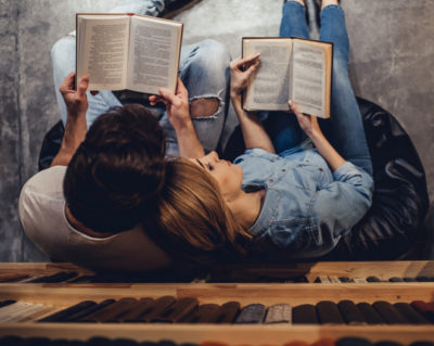 couple reading books worried after sex